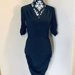 Rachel Roy Cross Front Fitted Dress